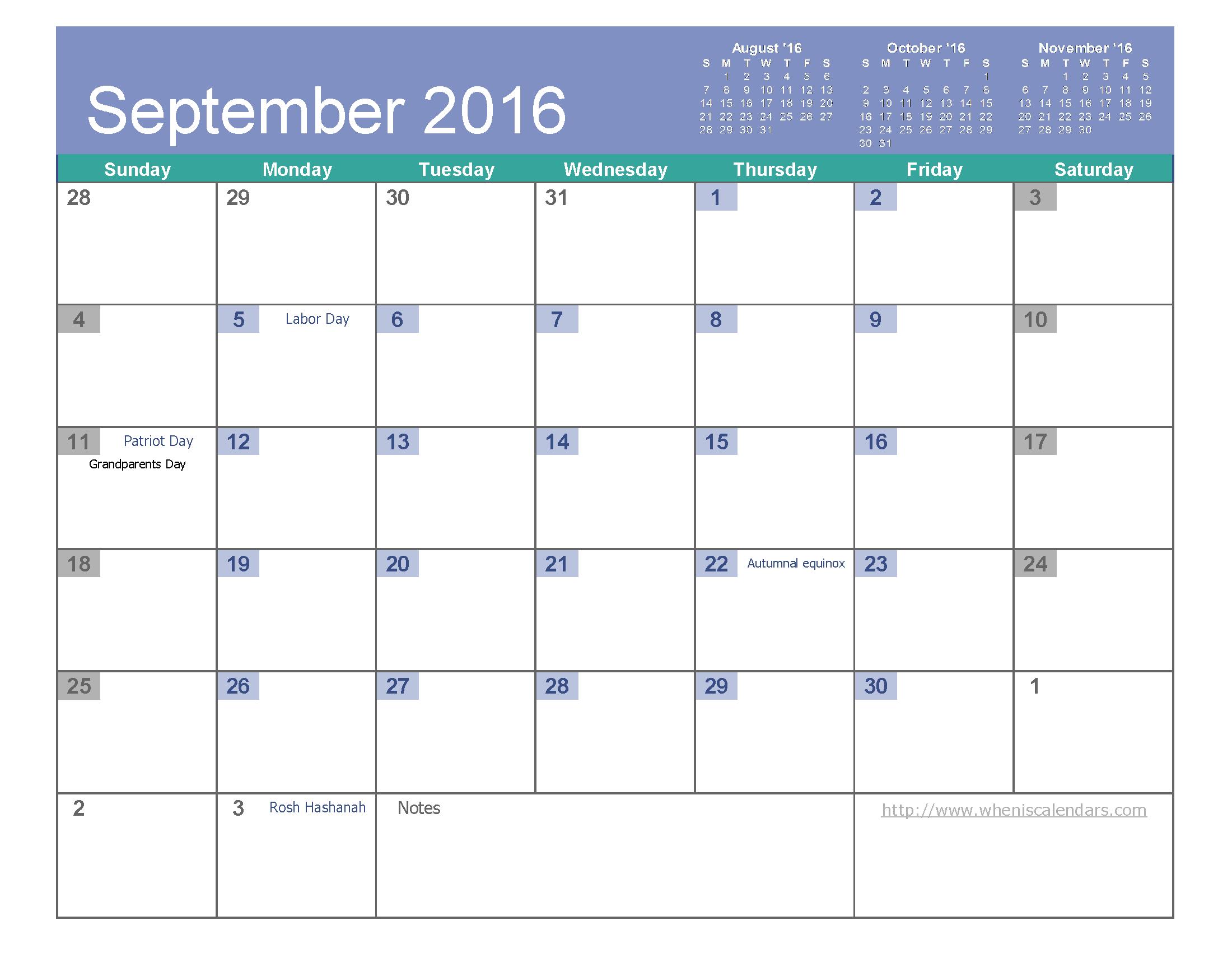 Calendar June September : Blank calendar month template