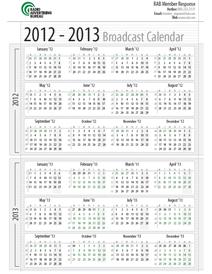 2013 Broadcast Calendar