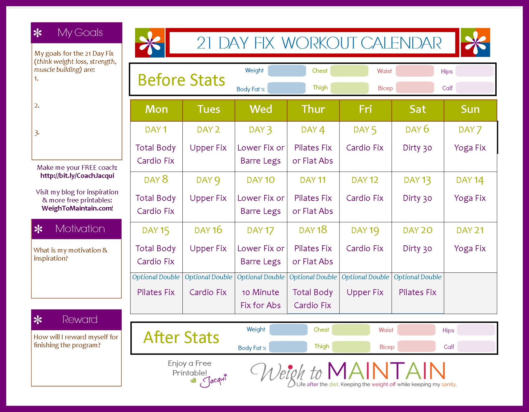 21Day Fix Extreme Workout Schedule