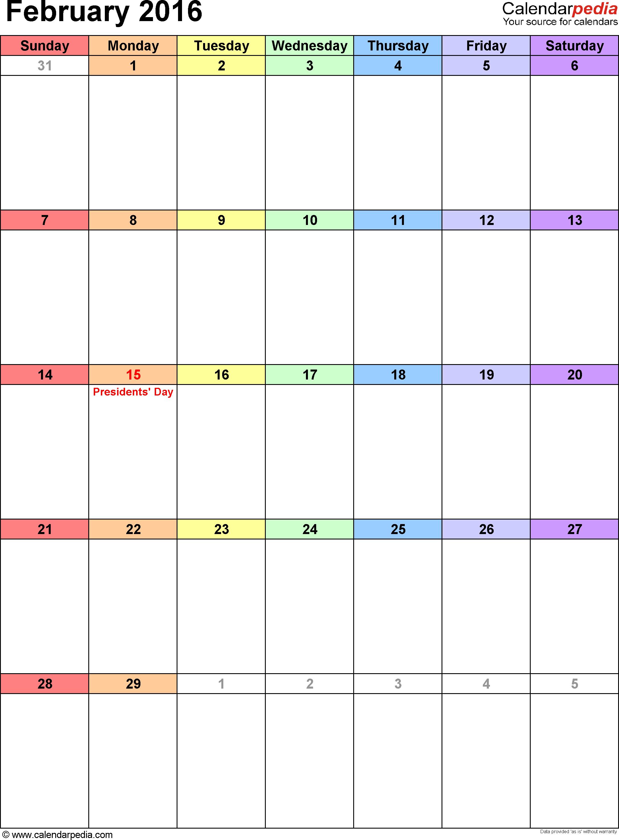 August 2015 Calendar Template