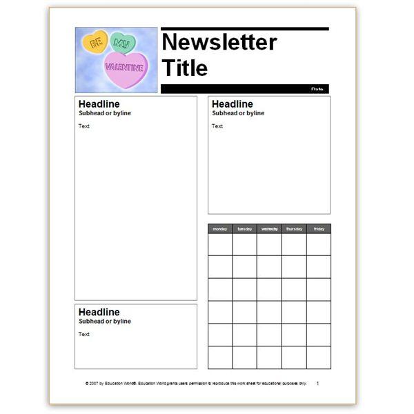Free Preschool Newsletter Template Word