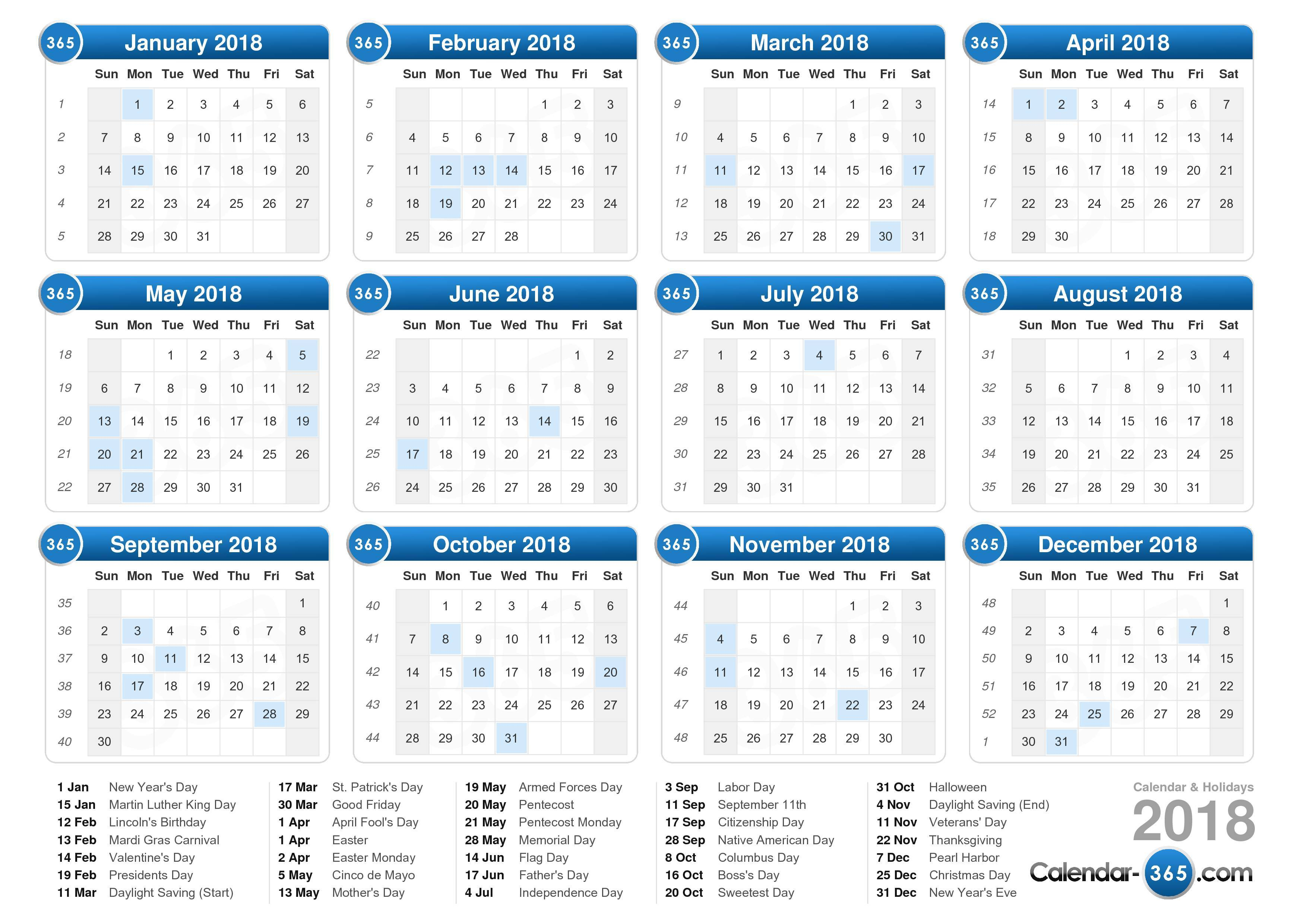 Printable Monday Friday Calendar Template
