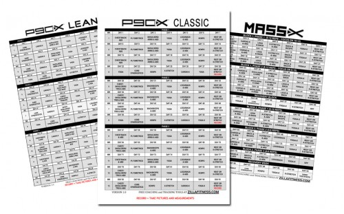 P90x Workout Schedule Pdf