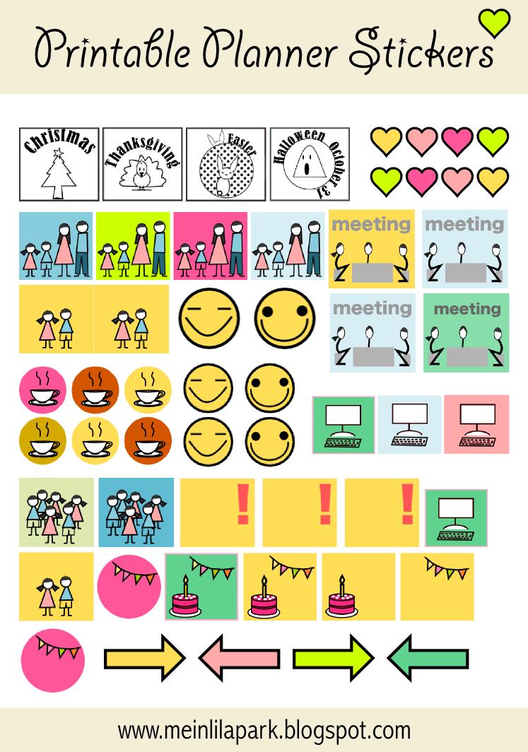 Calendar Planner Reminder Stickers : Print calendar reminder stickers template