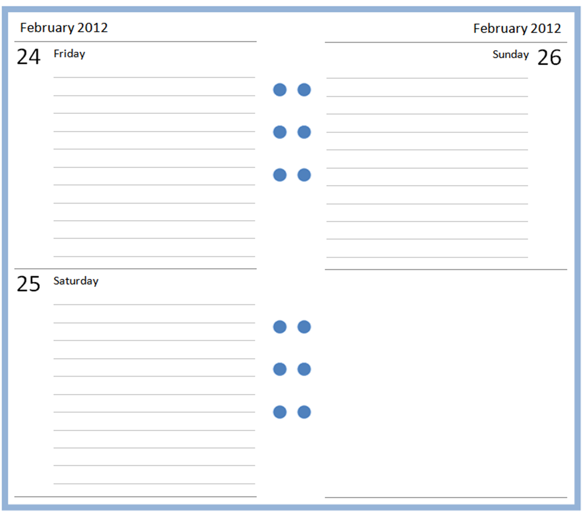 2016 Printable Calendar Monthly Theme