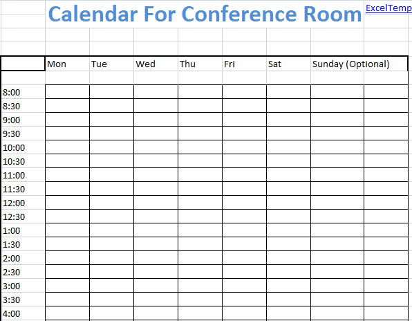 Conference Room Scheduling Template