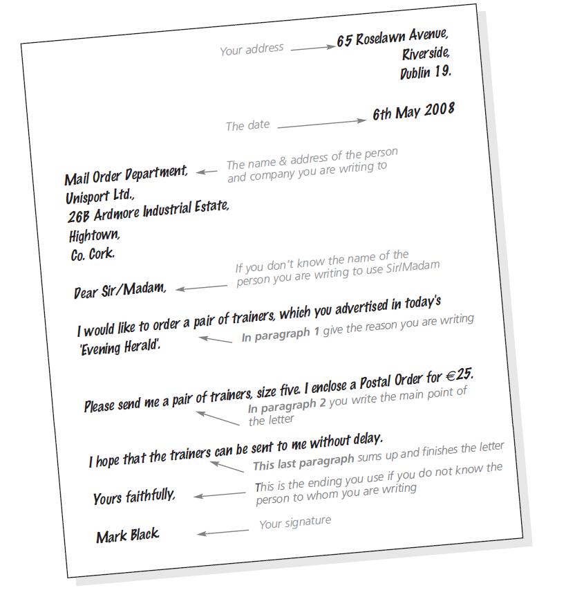 Informal Letter Example