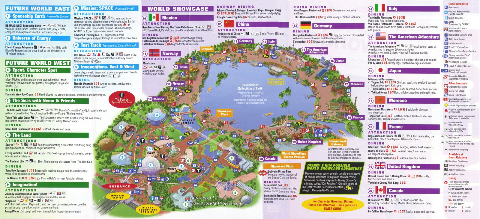 Disney World Epcot Map