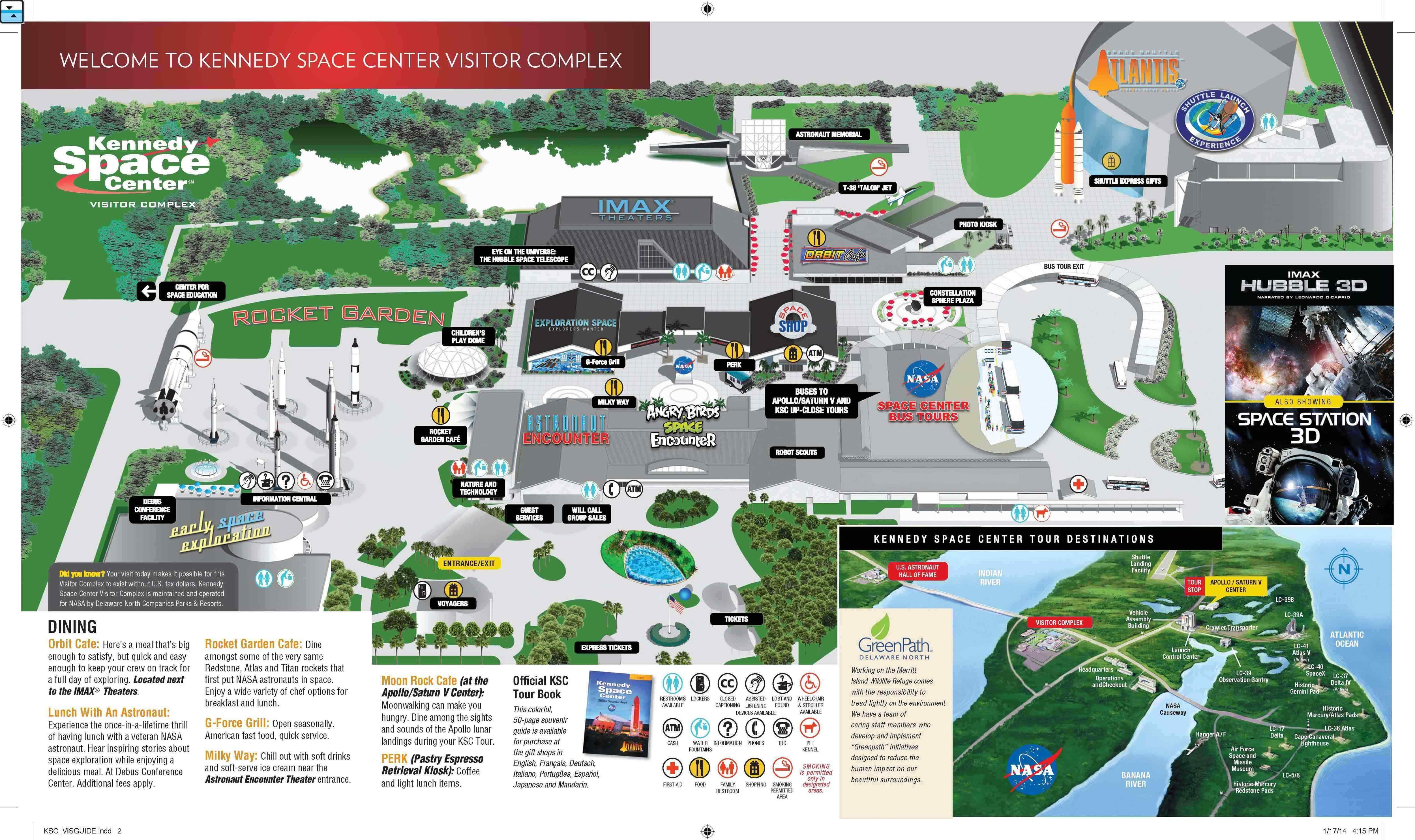 Kennedy Space Center Map