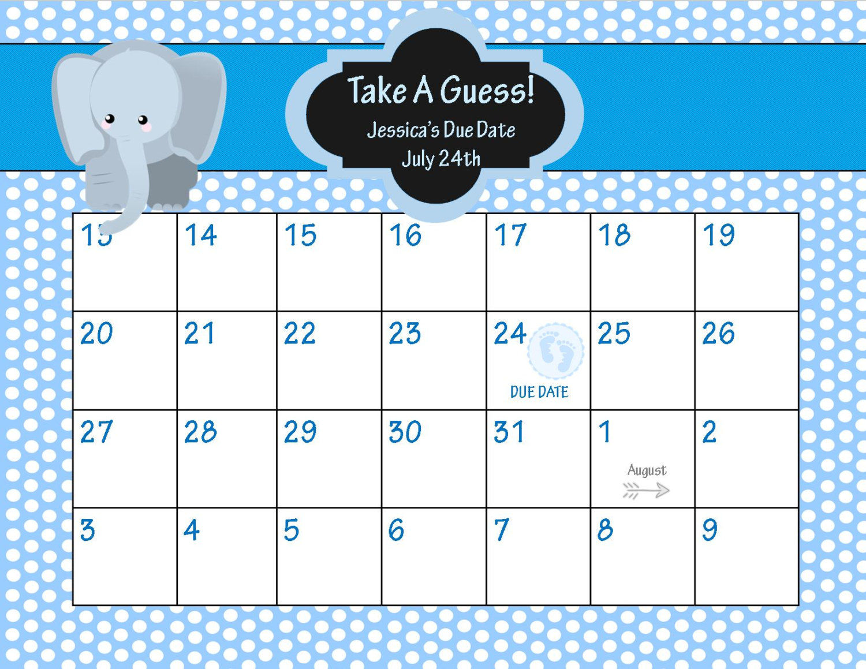 8 Best Images of Baby Pool Calendar Printable Baby Pool Template