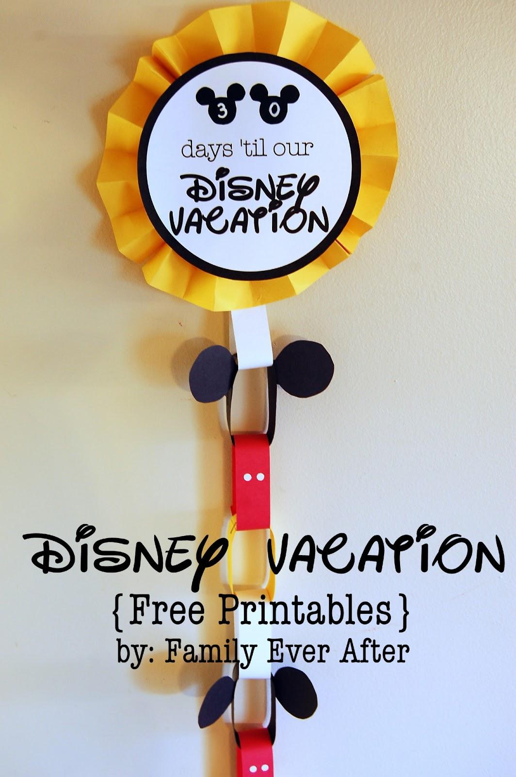 Free Printable Disney Vacation Countdown