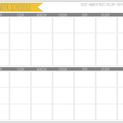 8 Best Images of 2 Week Printable Calendar Weekly With Time Free