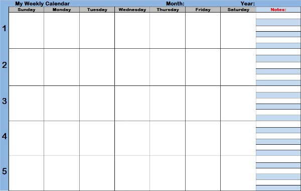 Best Photos of Weekly Calendar With Time Slots Template Calendar