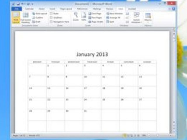 How to Use the Calendar Wizard in Microsoft Word Lesson.Website