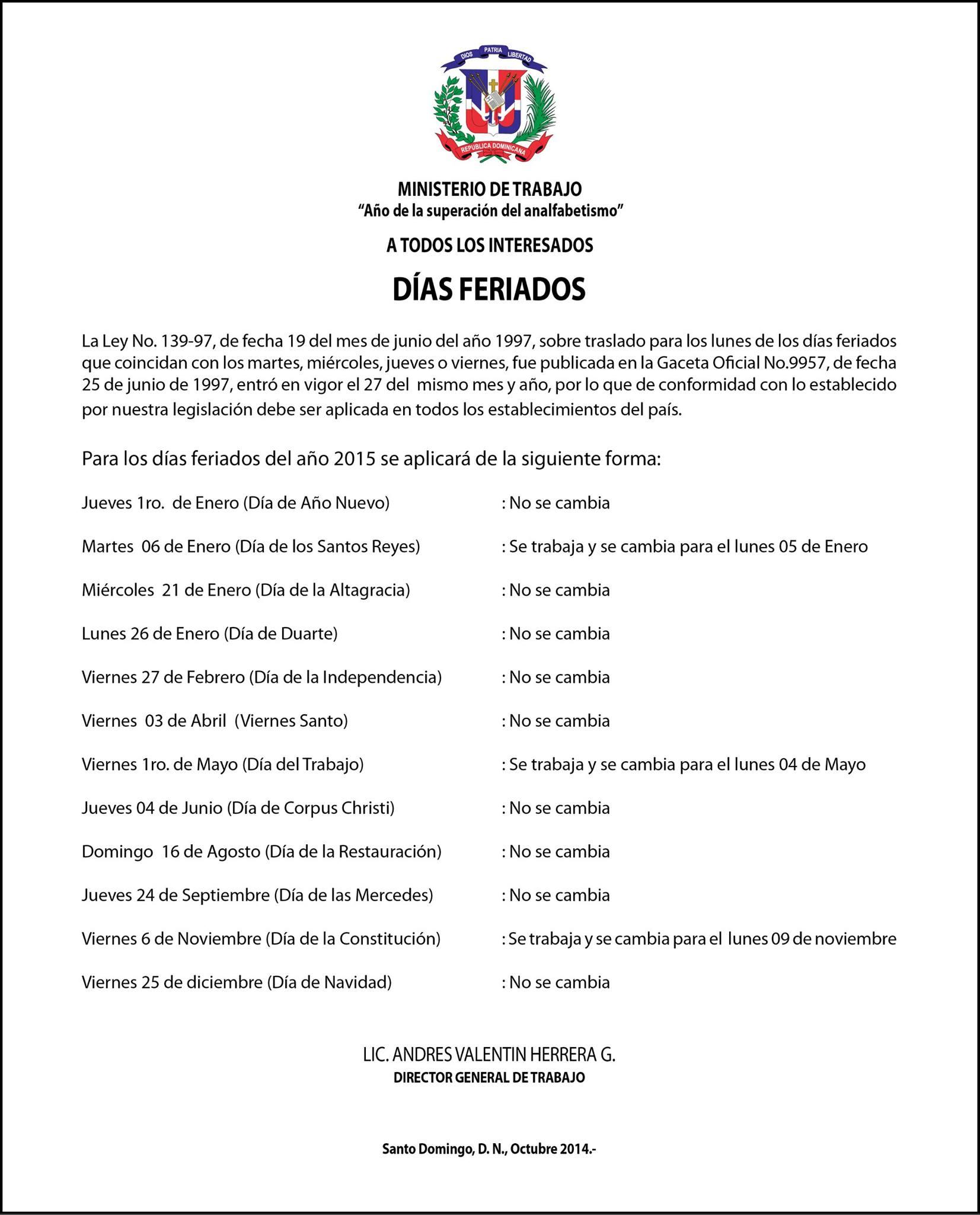 CALENDARIO 2015 | SIN RESERVAS