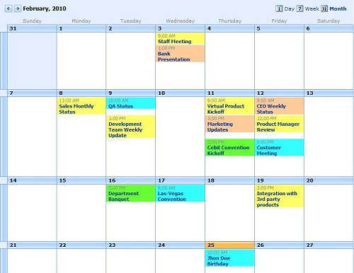 Homework Calendar Template For Excel