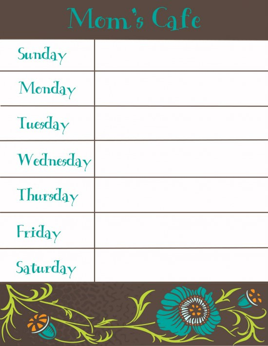 30 Family Meal Planning Templates weekly, monthly, budget Tip