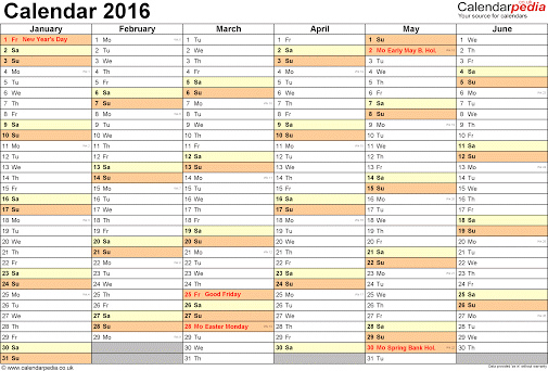 Employee Vacation Calendar Template 2016 | Calendar Template 2017