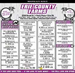 Erie County Farms Weekly Ad & Flyer Specials