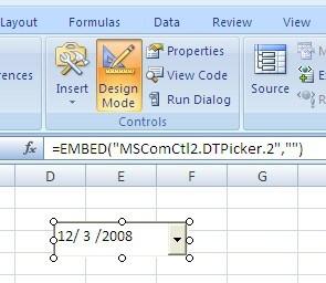 Insert a Drop Down Calendar Menu In Excel – Choose a Date