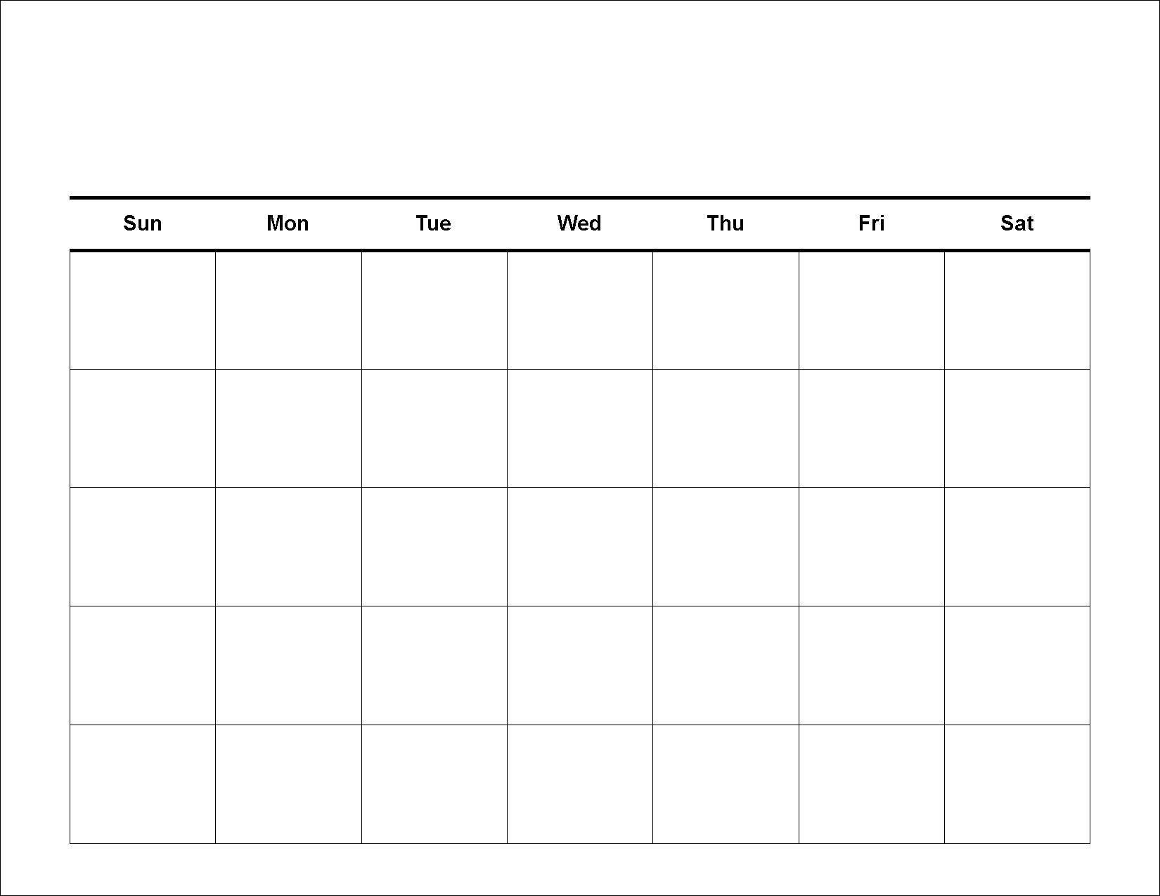 Printable Blank Calendar Template – 2017 Printable Calendar