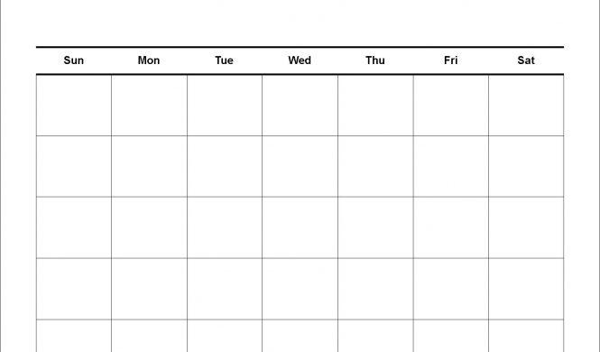 Four Week Blank Calendar | Calendar Template