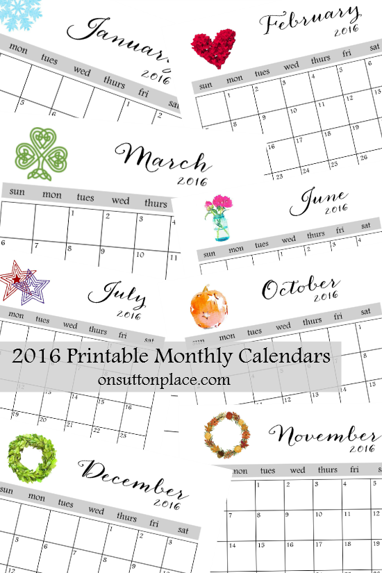 7 Best Images of Printable Calendars By Month Free Printable