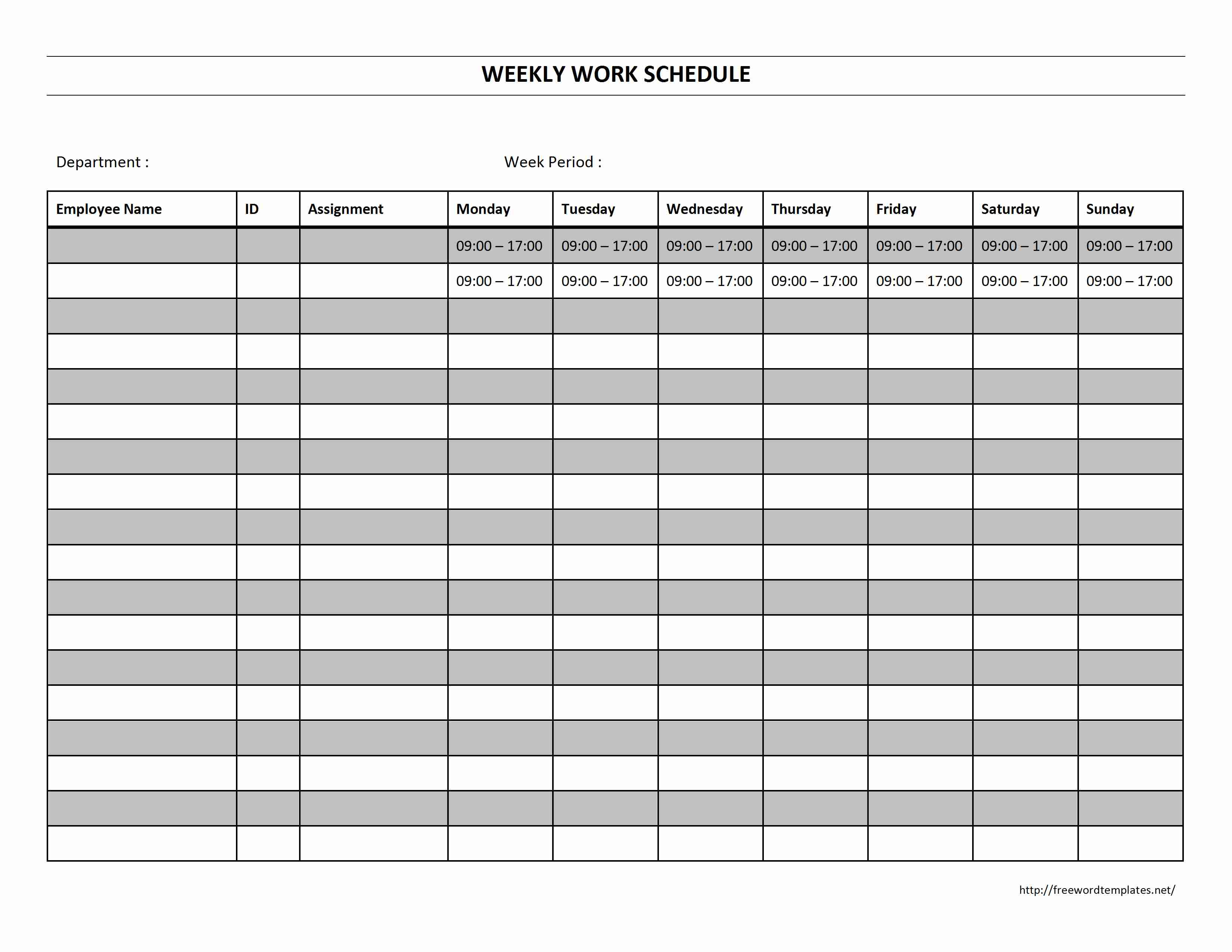 printable schedule calendar