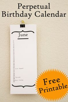 Birthday Calendar: Free Chalkboard Printable Tutorial | Birthday