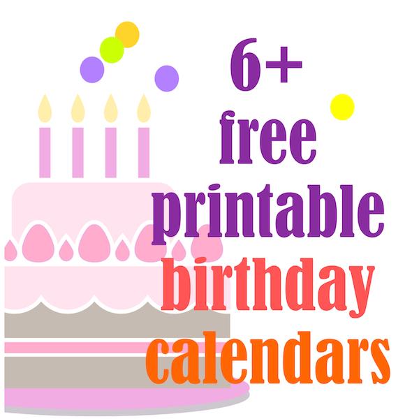 6+ free printable birthday calendars perpetual calendars