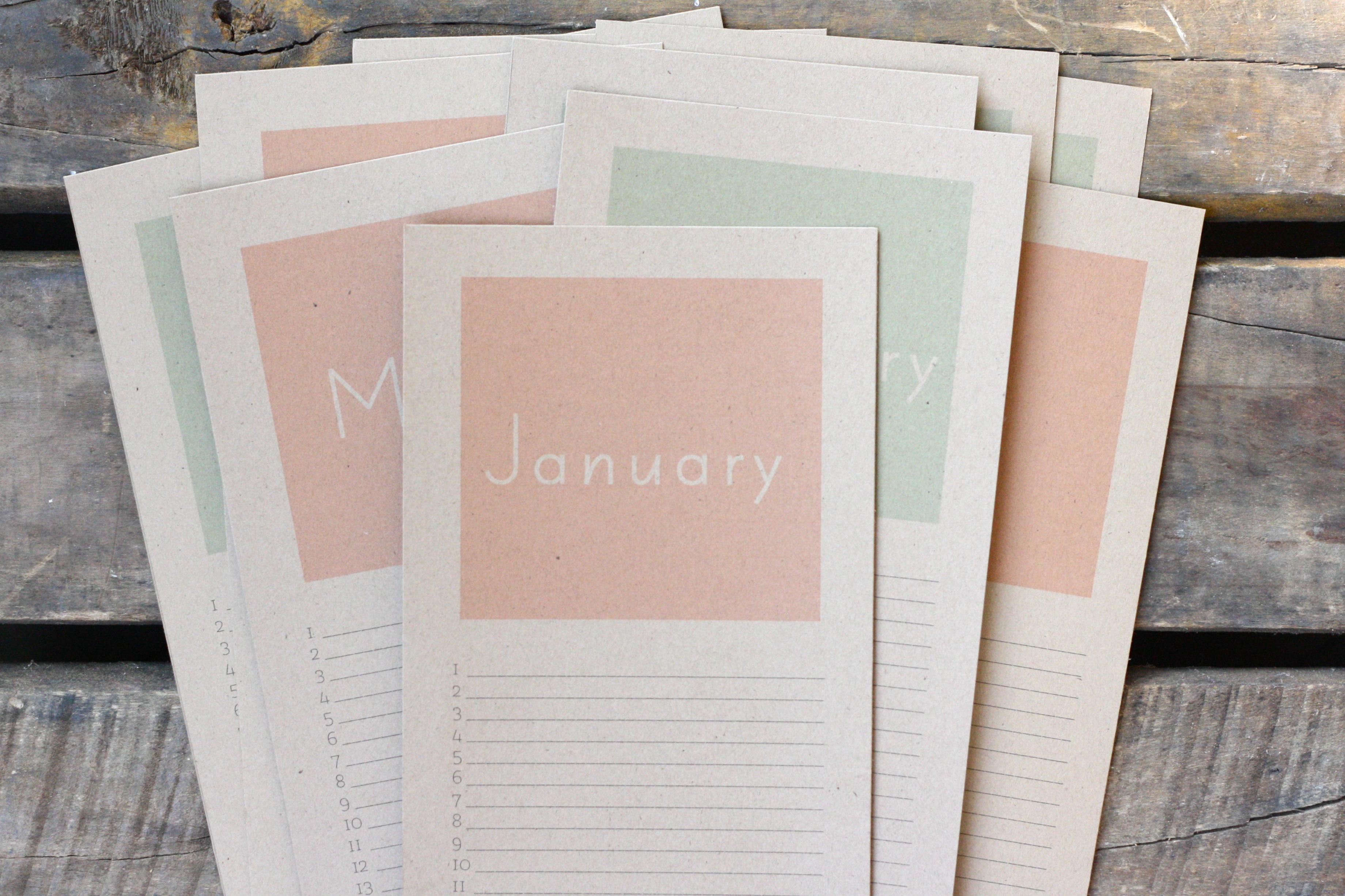 perpetual birthday calendar free printable! – RICEdesigns