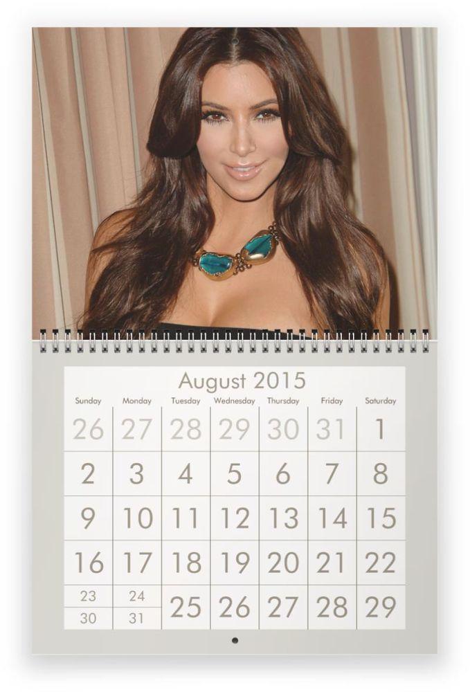 KIM KARDASHIAN 2015 Wall Calendar | Wall Calendars, Kim Kardashian