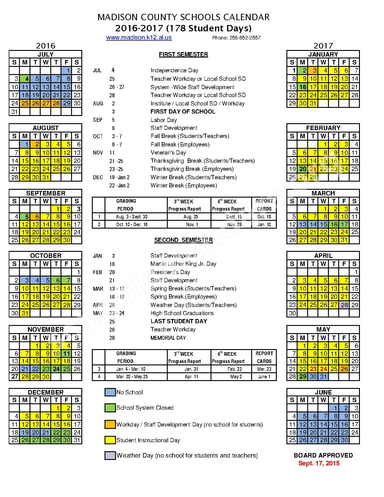 Meridianville Middle School Calendars – Hazel Green, AL