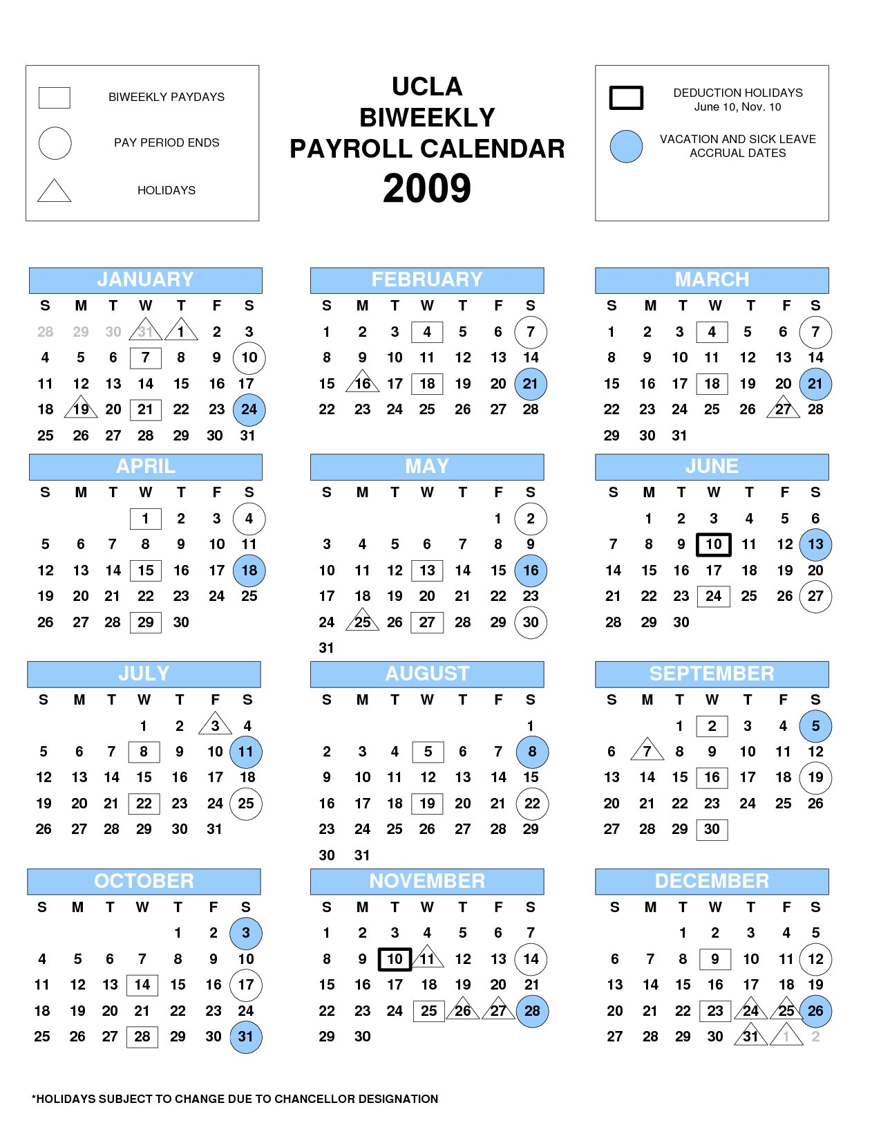 Hith&Simple Ucla biweekly payroll calendar .koslandtours.com