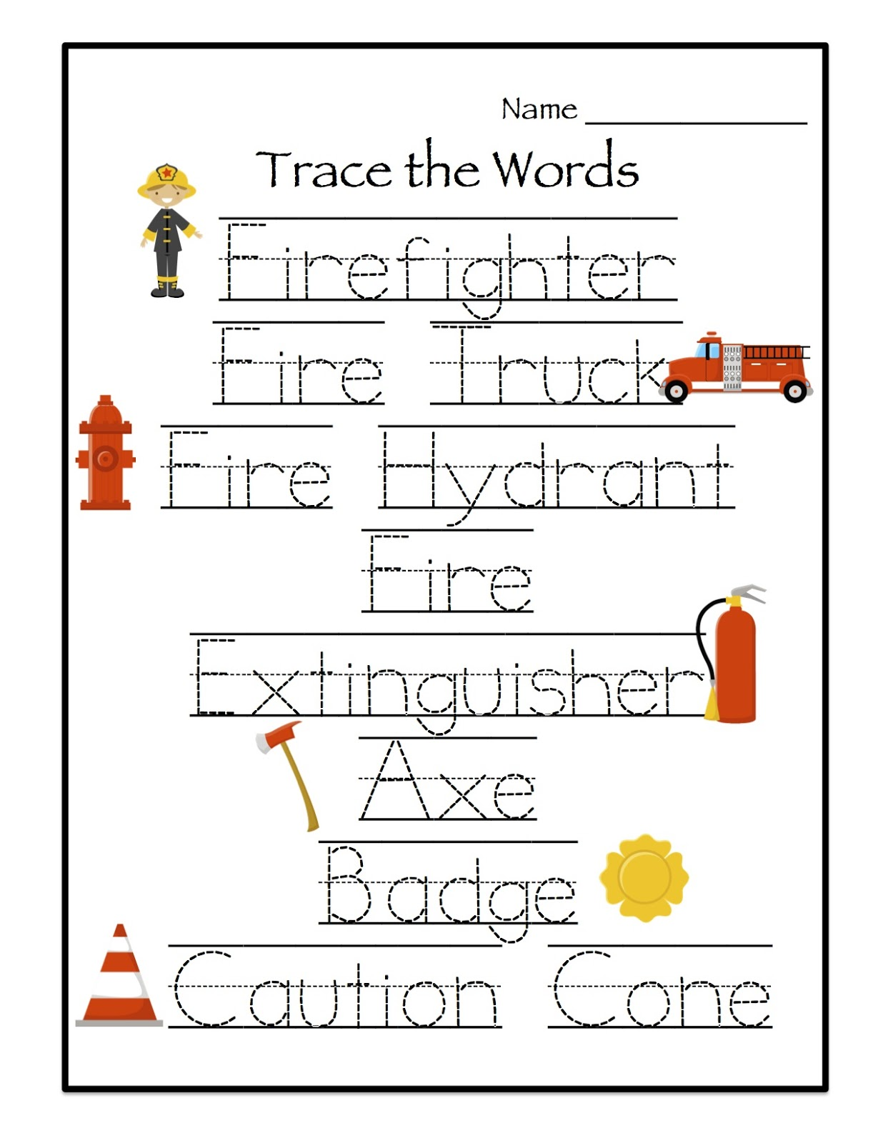 Fire Safety Printables Preschool