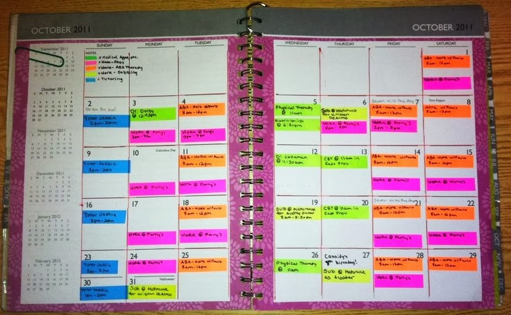 color coded schedule maker