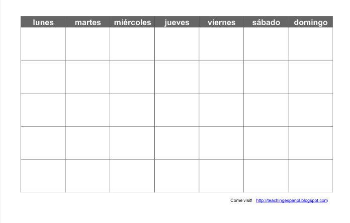 2016 Calendar in Spanish Free Printable AllFreePrintable.com