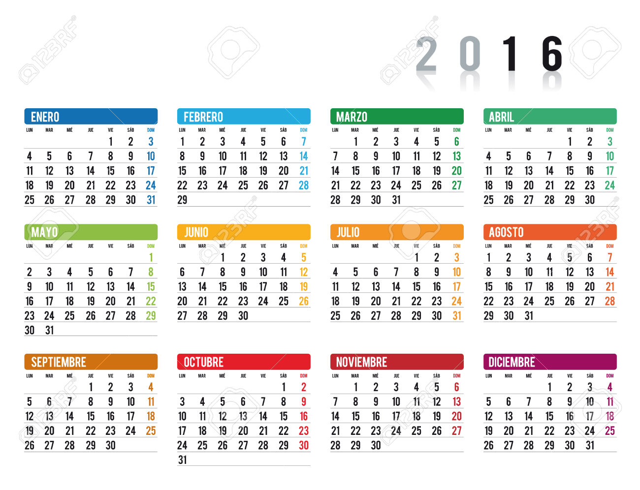 Calendarios) Free Printable Spanish Calendar 2015 Templates • Elsoar