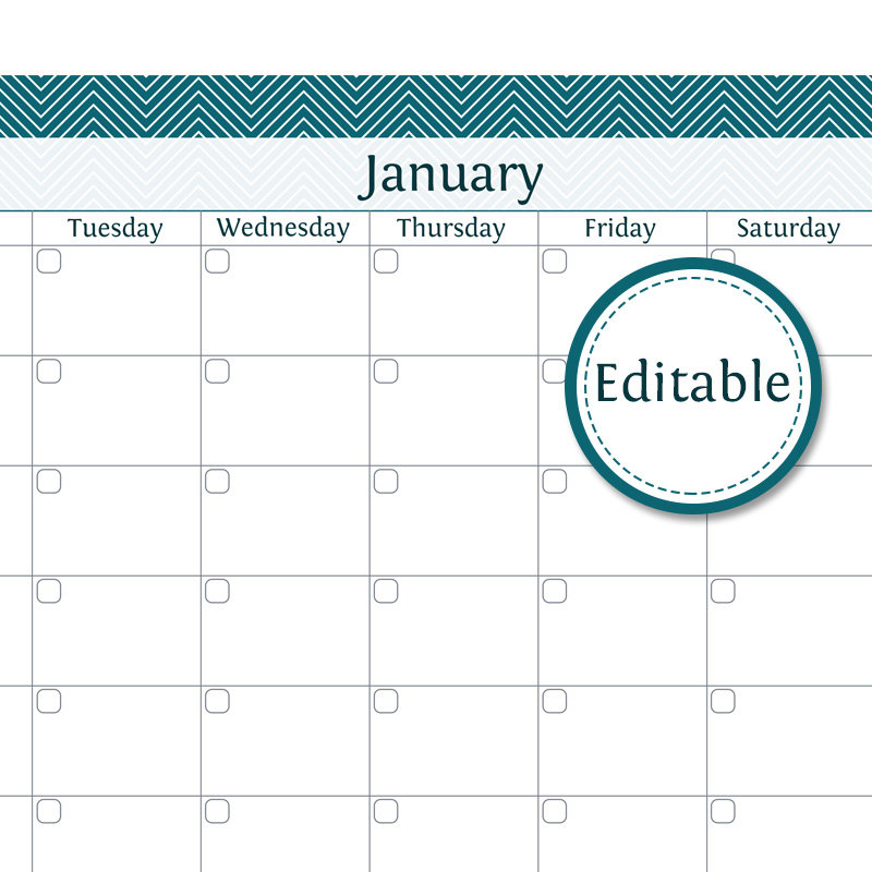 Items similar to Calendar Template 2015, Digital Download, 5x7