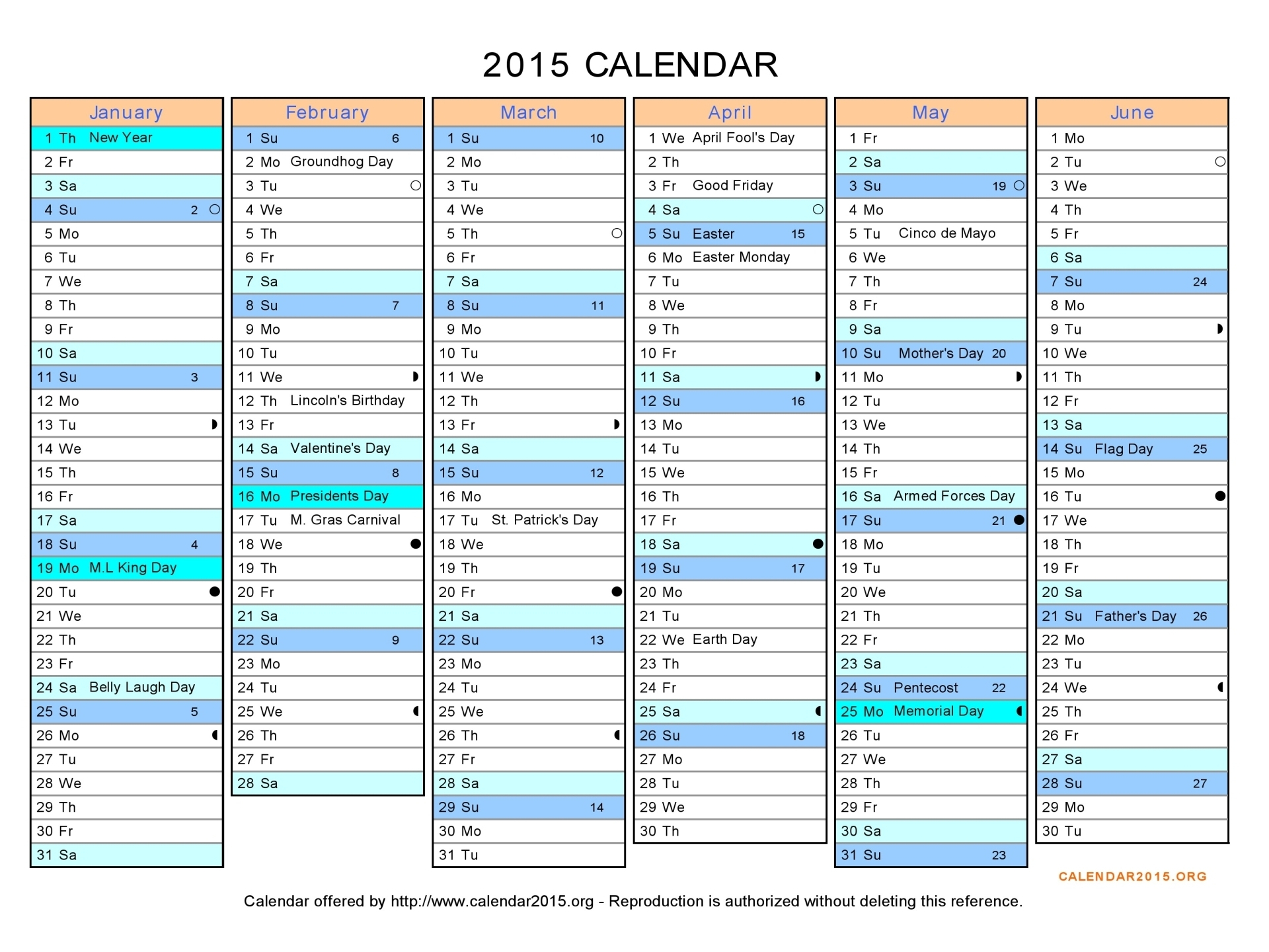 Best Photos of 2015 Excel WinCalendar 2015 Yearly Calendar