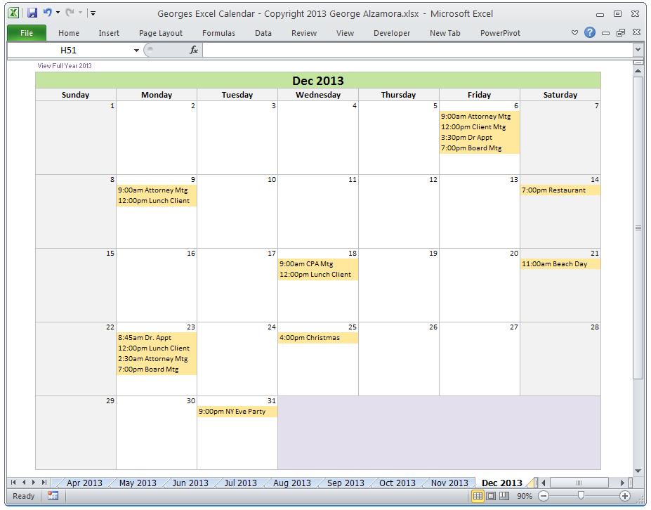 Best Photos of 2014 Excel Calendar Spreadsheet Template 2014