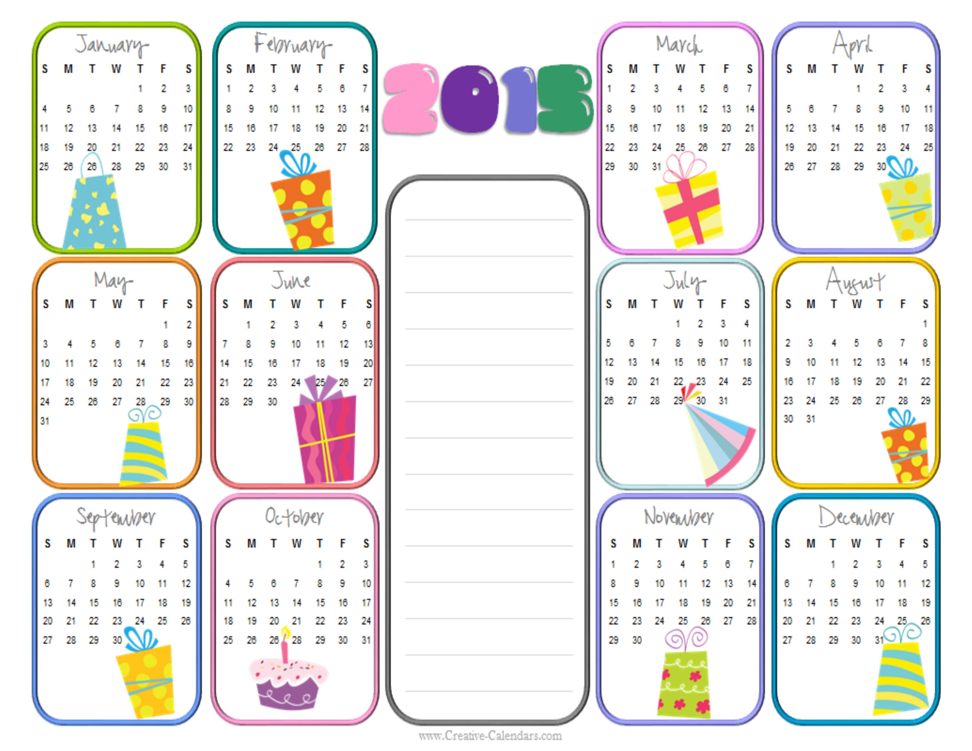 Calendar 2015 Template Free – 2017 printable calendar