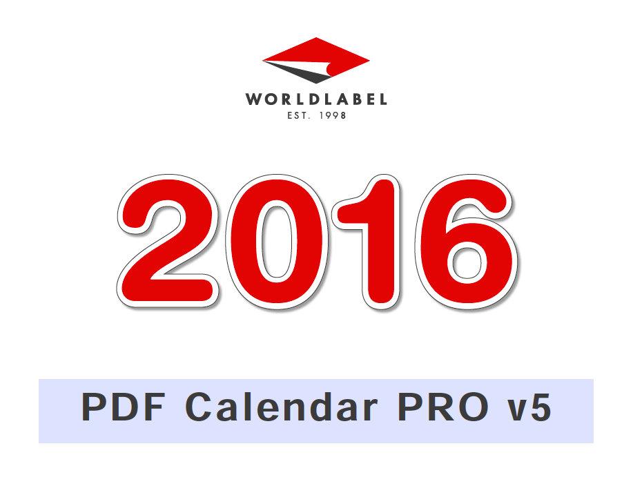 2016 Editable PRO Fillable PDF Calendar Template | Worldlabel Blog