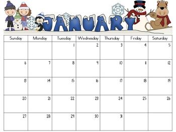 Monthly calendars, Calendar and New Year's on Pinterest