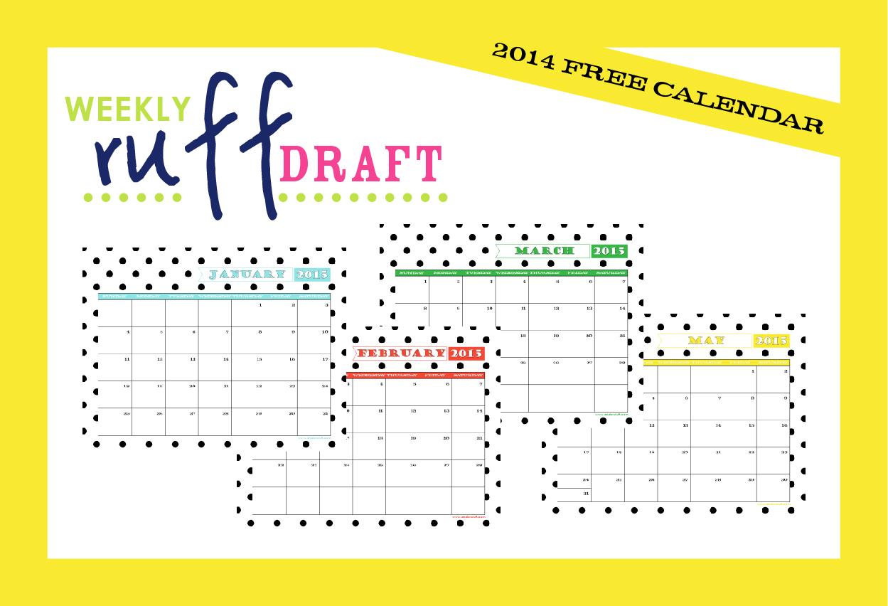 Ruff Draft: 2015 Free Printable Calendar Anders Ruff Custom