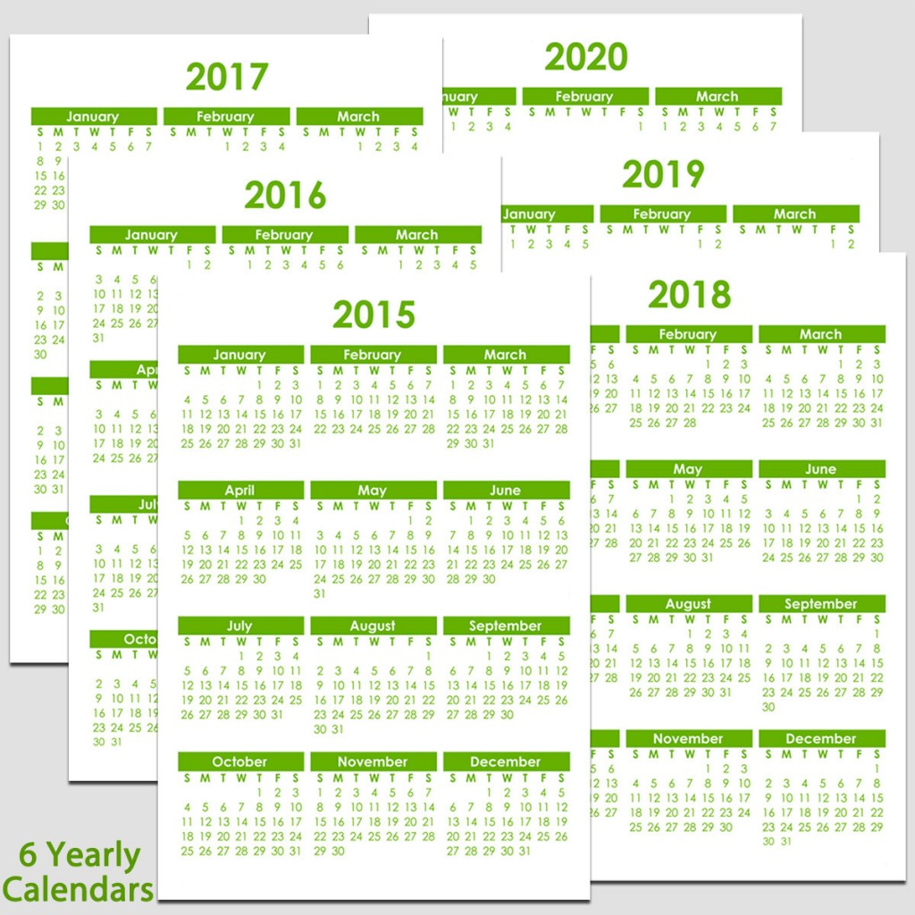 5 Best Images of Year 2020 Calendar Printable 2020 Calendar