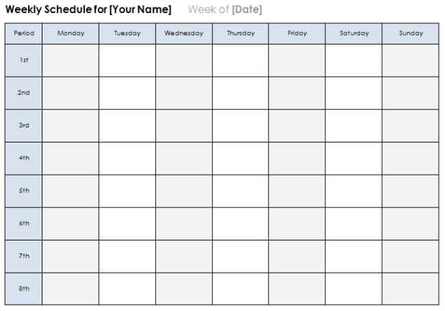Printable Sunday Through Saturday Calendar – Weekend Scheduled Template