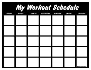 Print Out A Workout Calendar | Print A Workout Calendar
