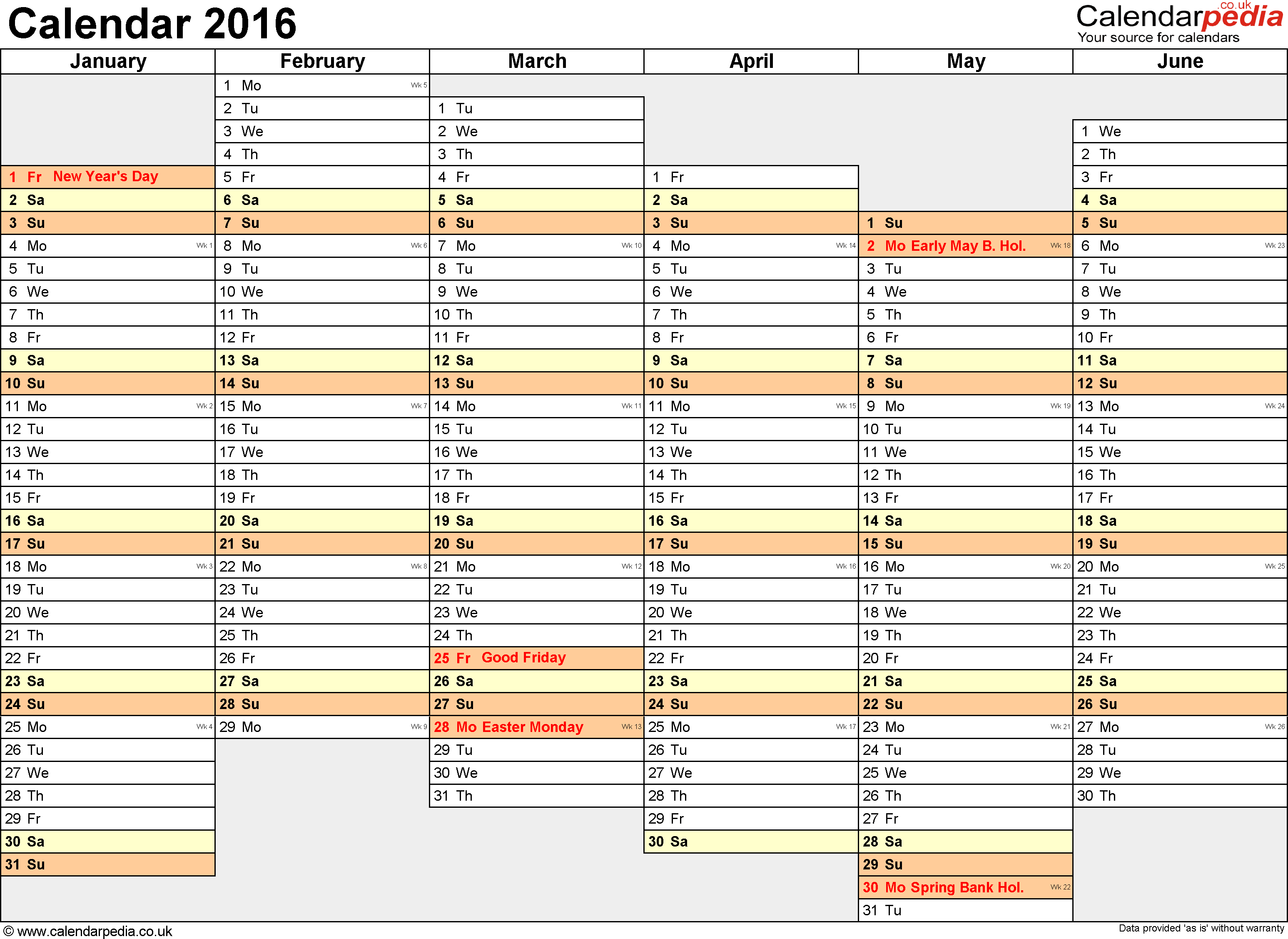 Yearly Planning Calendar fice Template