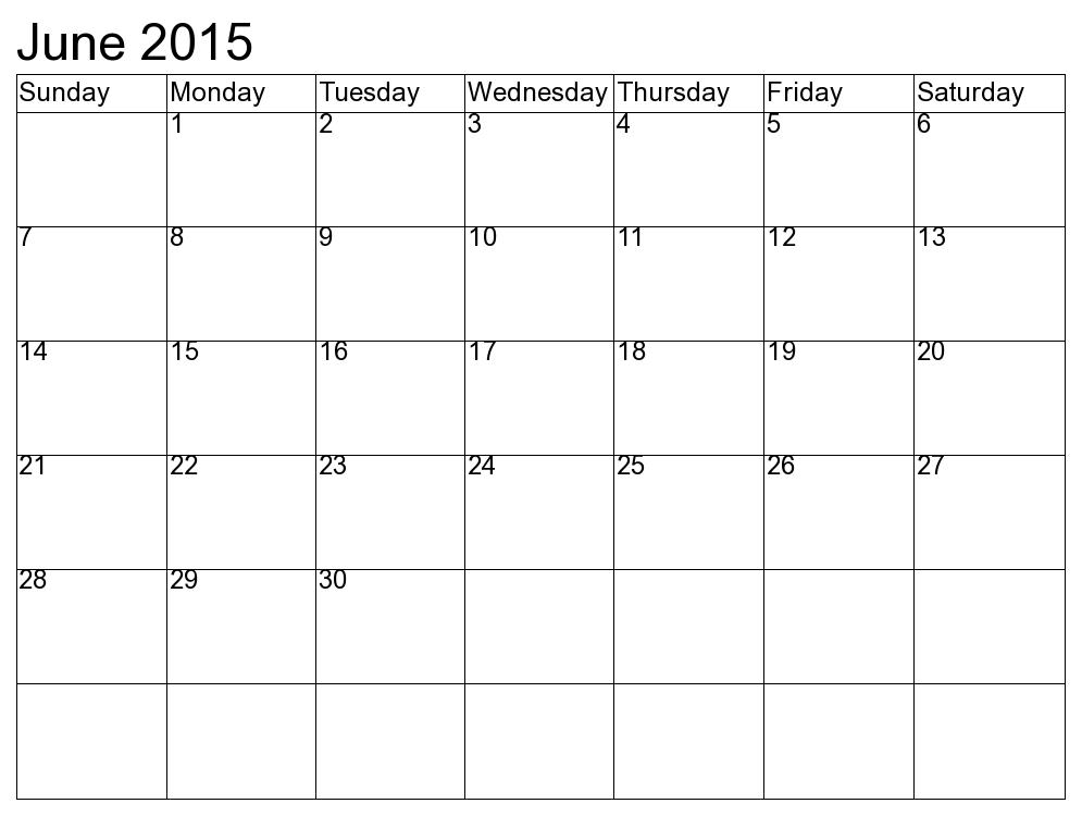 June 2015 Calendar Word Doc, Template, Excel, Pdf Pictures, Photos
